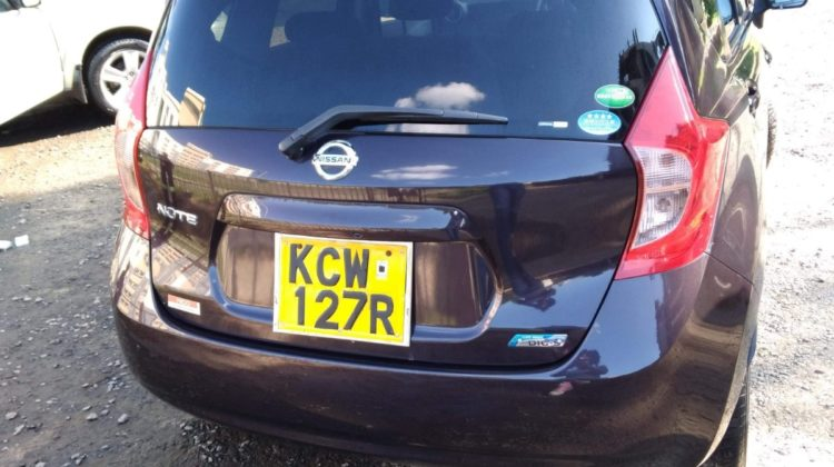 Nissan Note Year 2012 KCW Purple color in excellent condition Ksh 575K