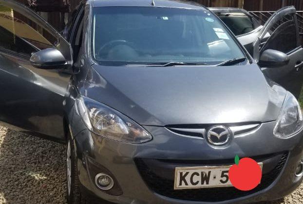 Mazda Demio Year 2012 KCW Grey color in excellent condition Ksh 485K