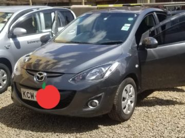 Mazda Demio Year 2012 KCW Grey color in excellent condition Ksh 485K